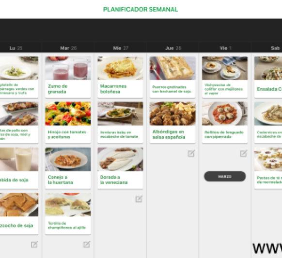 Planificación semanal para comer bien...Cookidoo