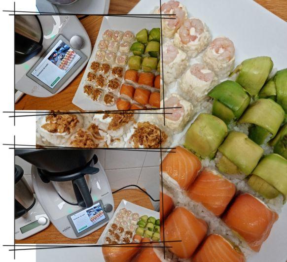 Bombones de sushi
